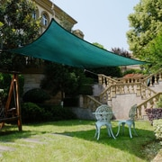 Cool Area 9'8'' x 13'1'' Rectangle Shade Sail; Green