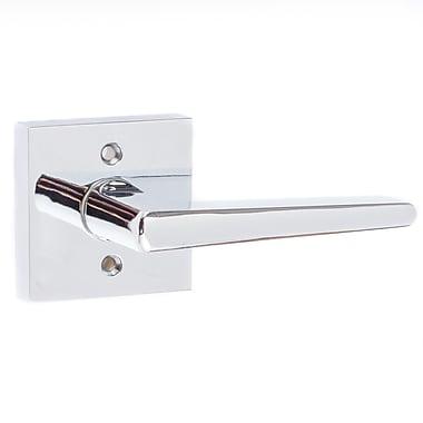 Sure-LocHardware Basel Single Dummy Door Lever; Polished Chrome