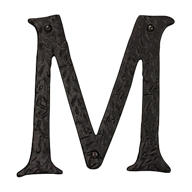 RCH Supply Company Decorative Solid Cast Iron Address Plaque Surface Mount House Letter; M