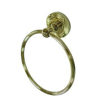 Elements of Design Georgian Wall Mounted Towel Ring; Polished Brass