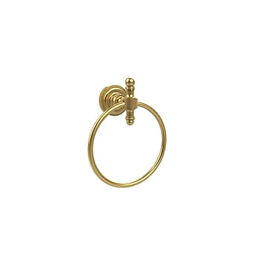 Allied Brass Universal Wall Mounted Dot Towel Ring; Antique Pewter