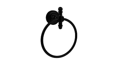 Allied Brass Universal Wall Mounted Dot Towel Ring; Matte Black