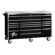 Extreme Tools Triple Bank 72''W 17-Drawer Tool Chest; Black
