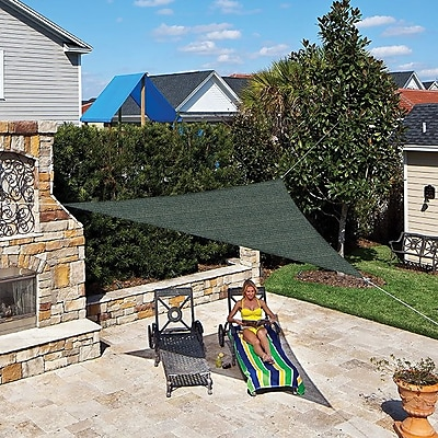 Coolaroo 11'8'' Triangle Shade Sail; Montecito WYF078281846162