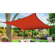 Boen 12' Square Shade Sail; Red