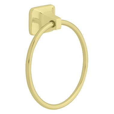 Franklin Brass Futura Wall Mounted Towel Ring; Brass