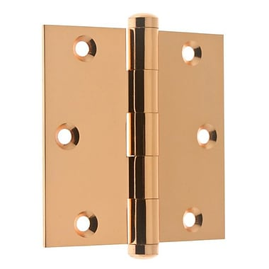idh by St. Simons 3.06'' H x 3.5'' W Full Mortise Pair Door Hinge (Set of 2); Bright Copper