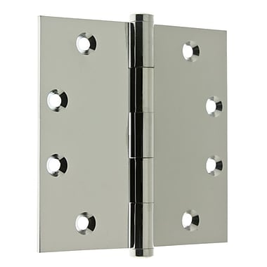 idh by St. Simons 3.06'' H x 4.5'' W Full Mortise Pair Door Hinge (Set of 2); Polished Chrome