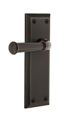 Grandeur Georgetown Door Lever w/ Fifth Avenue Plate; Timeless Bronze