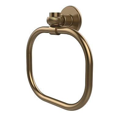 Allied Brass Continental Wall Mounted Towel Ring w/ Twist Detail; Brushed Bronze
