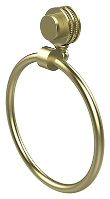 Allied Brass Venus Wall Mounted Towel Ring w/ Dotted Detail; Satin Brass