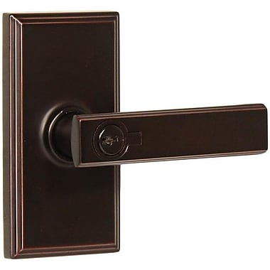 Weslock Utica Keyed Right Hand Door Lever; Oil Rubbed Bronze