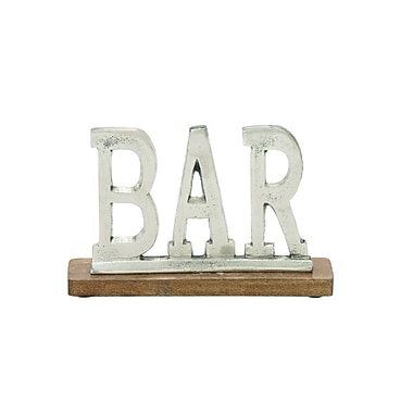 Cole & Grey Aluminum Wood Bar Letter Block; 6'' H x 10'' W x 2'' D