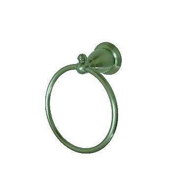Elements of Design English Vintage Wall Mounted Towel Ring; Satin Nickel