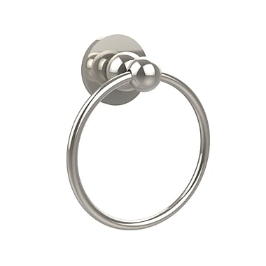 Allied Brass Waverly Place Wall Mounted Towel Ring; Polished Nickel