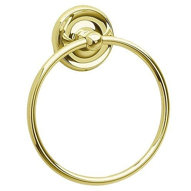 Smedbo Villa Wall Mounted Towel Ring; Polished Brass