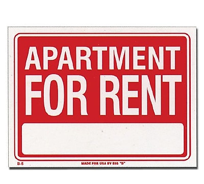 Bazic Apartment For Rent Sign (Set of 24) (WYF078281845818) photo