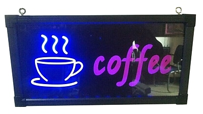 Creative Motion Coffee w/ Cup Sign WYF078281850055