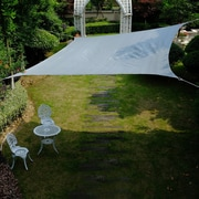 Cool Area 16'4'' Square Shade Sail; Slivery