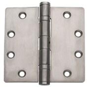 Global Door Controls 4.5'' H   4.5'' W Butt/Ball Bearing Set of 3 Door Hinges (Set of 3); Satin