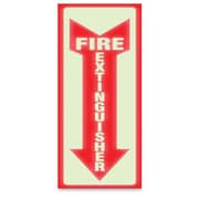 U.S. Stamp & Sign Glow Fire Extinguisher Sign