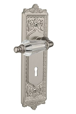 Nostalgic Warehouse Parlour Privacy Door Lever w/ Egg and Dart Plate; Satin Nickel