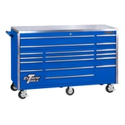 Extreme Tools Triple Bank 72''W 17-Drawer Tool Chest; Blue