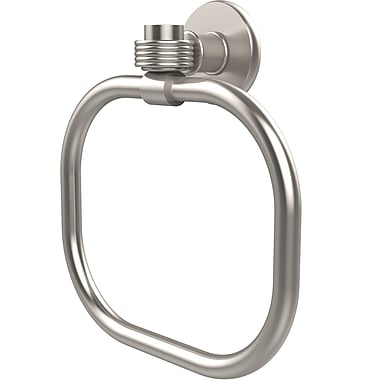 Allied Brass Continental Wall Mounted Towel Ring w/ Groovy Detail; Satin Nickel