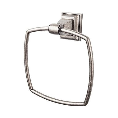 Top Knobs Stratton Bath Towel Ring; Antique Pewter