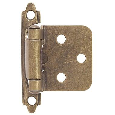 Hardware House 2.75'' H x 2'' W Self-closing Single Door Hinge (Set of 2); Antique Brass