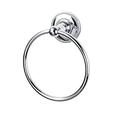 Top Knobs Edwardian Towel Ring; Polished Chrome