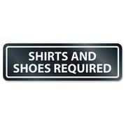 U.S. Stamp & Sign Shirts/Shoes Required Window Sign
