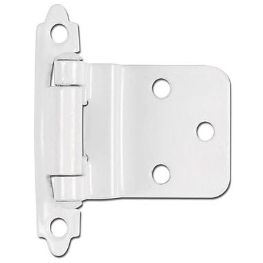 Hardware House 2.75'' H x 2'' W Self-closing Pair Door Hinge (Set of 2); White