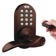 Milocks Keyless Electronic Door Lever w/ Keypad and Remote Contro; Oil Rubbed Bronze