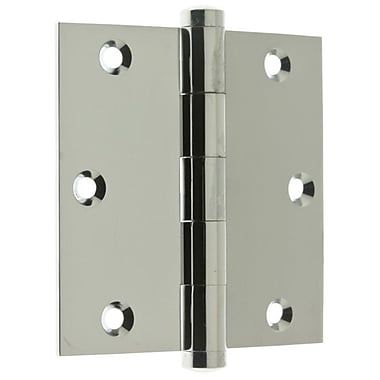 idh by St. Simons 3.06'' H x 3.5'' W Full Mortise Pair Door Hinge (Set of 2); Polished Chrome