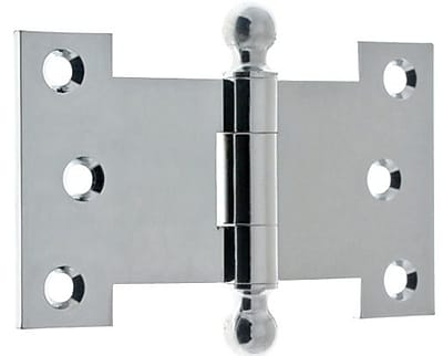 idh by St. Simons 2.5'' H x 4.5'' W Parliament Pair Door Hinge (Set of 2); Polished Chrome
