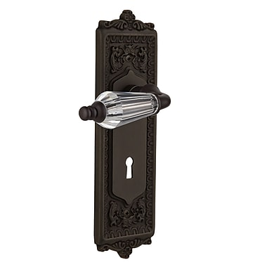 Nostalgic Warehouse Parlour Privacy Door Lever w/ Egg and Dart Plate; Oil Rubbed Bronze