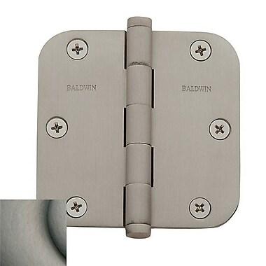 Baldwin 4.7'' H x 2.7'' W Butt Bearing Single Door Hinge; Antique Nickel