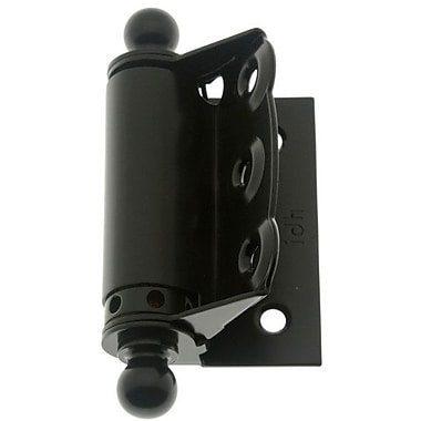 idh by St. Simons 4'' H x 4.5'' W Spring Screen Pair Door Hinge (Set of 2); Matte Black
