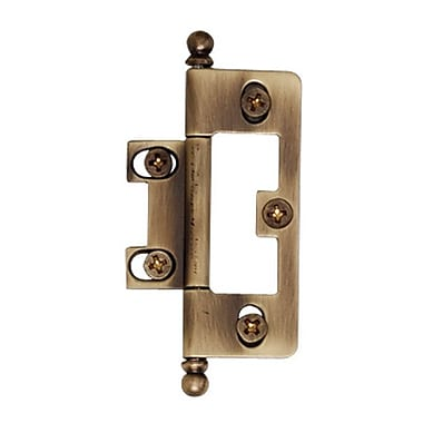 Alno 3.13'' H 1.5'' W Surface Mount Single Door Hinge; Antique English Matte