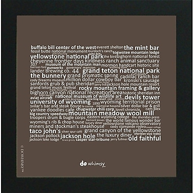 East Urban Home 'Wyoming State' Framed Textual Art in Brown