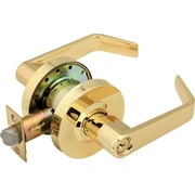 Legend Locksets Keyed Door Lever; Polished Brass