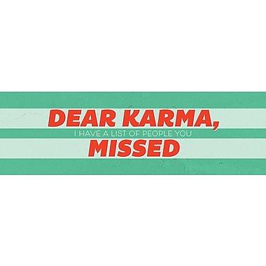 Ebern Designs 'Dear Karma' Textual Art on Wood