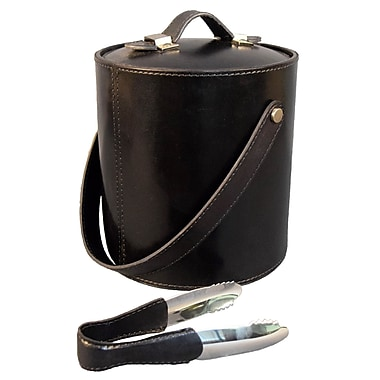 Darby Home Co Gautier Genuine Leather Ice Bucket