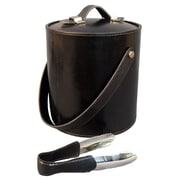 Darby Home Co Gautier Contemporary Genuine Leather Ice Bucket