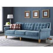 Mistana Bethel Sofa; Light Blue