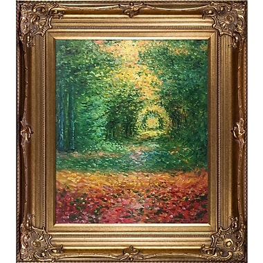 'The Undergrowth in the Forest of Saint-Germain' by Claude Monet Framed Original Painting on Canvas