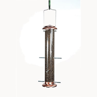 Woodlink Audubon 4 Port Brushed Copper Thistle Tube Bird Feeder (WYF078281965200) photo
