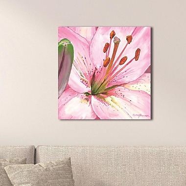 August Grove 'Heart of a Pink Lily' Oil Painting Print; Plexiglass