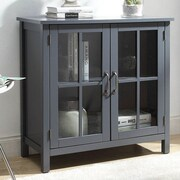 Alcott Hill Digby Wood 2 Door Accent Cabinet; Gray